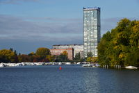 Panorama at the River Spree, Treptow, Lichtenberg, Berlin