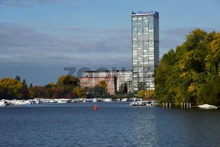 Panorama am Fluss Spree, Treptow, Berlin
