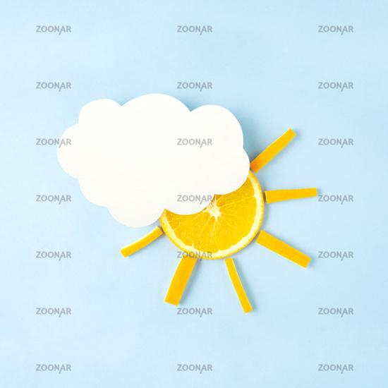 Sun in the sky.