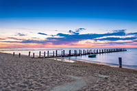 Sunset on the beach of Zingst