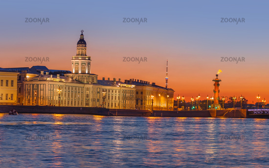 Neva river panorama - Saint-Petersburg Russia