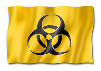 Biohazard flag isolated on white