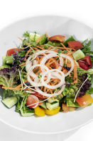 fresh organic mixed vegetable vegan Garden Salad with Vinaigrette sauce