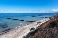 Strand an der Küste der Ostsee in Nienhagen