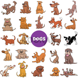 cartoon dogs and puppies large set