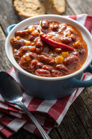 Chili con carne. Mexican food with beans.