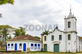 Famous churche in the ancient and historic city of Paraty