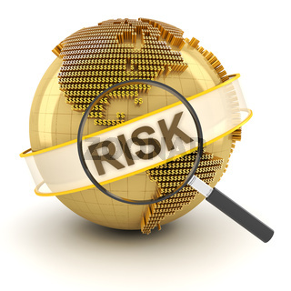 Analyzing global financial risk, 3d render