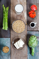 Vegetables and soy