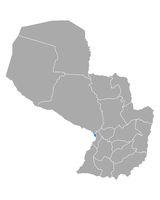 Karte von Asuncion in Paraguay - Map of Asuncion in Paraguay