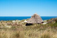 Strandhütte an der Ostseeküste in Wustrow auf dem Fischland-Darß
