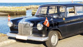 Klassische alte Autos in Dänemark