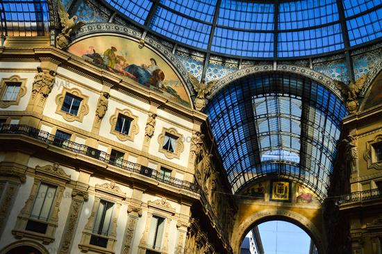 Galleria Vittorio Emanuele II in central of Milan