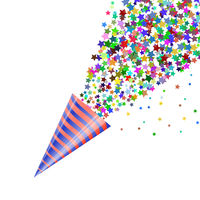 Colorfull Confetti Icon Isolated on White Background