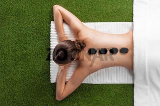Woman at natural spa massage