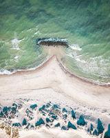 Breakwater at Liseleje Beach, Denmark
