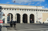 Historical gateway to Heldenplatz, Vienna, Austria