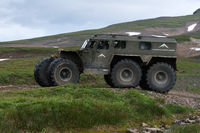 Snow swamp off-road and all-terrain vehicle Predator for transporting tourists