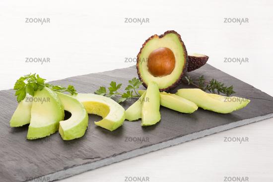 Delicious ripe avocado.