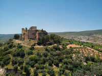 Aerial view Montesa castle. Spain