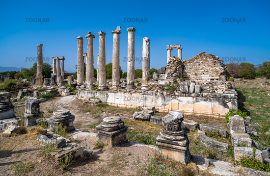 Temple of Aphrodite in Aphrodisias ancient city, Aydin, Turkey.