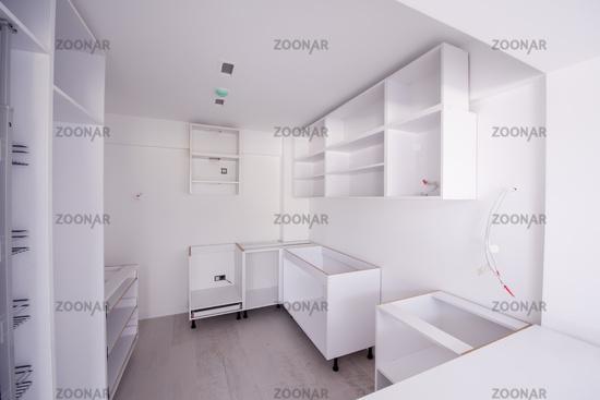 work in progress on the kitchen interior