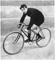 The winner of the Track cycling Grand Prix de Paris (1895, 1896, 1897) - Ludovic Morin.
