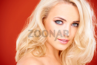 Stunning sensual blond woman