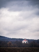 Small pavillion on a hill in the forest in Burgenland