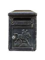 Black Vintage Letterbox on white