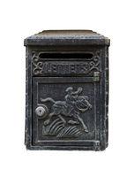 Black Vintage Letterbox on white