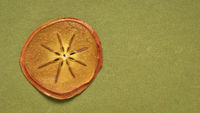 slice of dried persimmon fruit