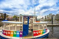 Aquabus on False Creek Vancouver British Columbia Canada