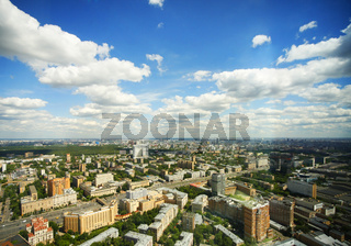 View of Moscow from the Triumph Palace building