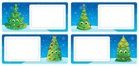 Stylized Christmas theme cards 3