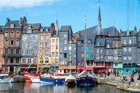 The old port of Honfleur, Normandy, France