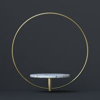 Abstract background golden ring and marble stand 3D