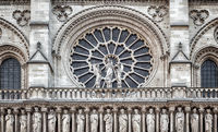 Architectural details of Cathedral Notre Dame de Paris