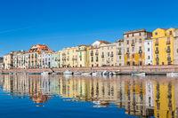 Cityscape Bosa in Sardinia