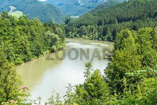 Der Fluss Enns und das Ennstal in Oberösterreich