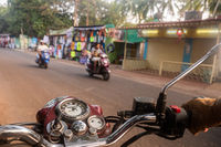 Driving a motorcycle in India