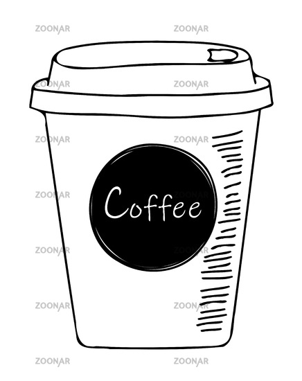 simple coffee to go sketch