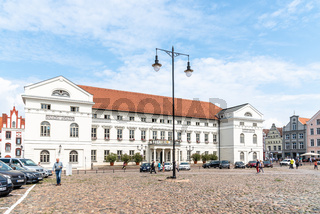 Street in historic centre of Wismar, Germany