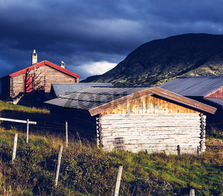 Huts in Norway mountains