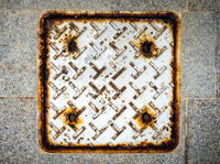Metal plate as waste water drainage cover