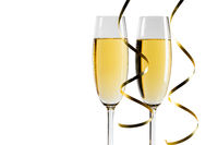 Pair glass of champagne
