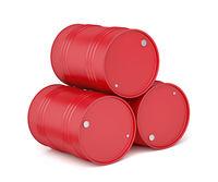 Red oil barrels