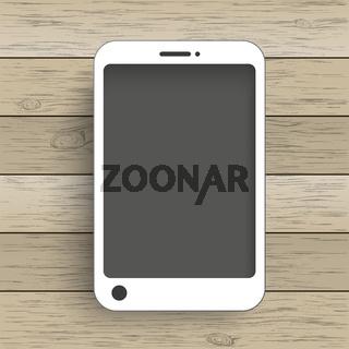 Wood Background Smartphone
