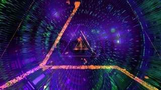 Glowing abstract triangle wireframe 3d illustration background wallpaper design artwork