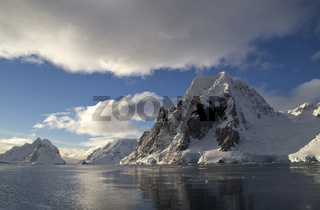 Scott Mountain in the central part of the Antarctic Peninsula